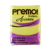 Premo Accent Sculpey Polymer Clay - Yellow Translucent 2 oz block