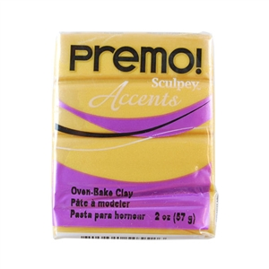 Premo Accent Sculpey Polymer Clay - 18K Gold 2 oz block