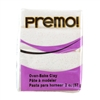 Premo Accent Sculpey Polymer Clay - Frost White Glitter 2 oz block
