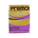Premo Accent Sculpey Polymer Clay - Antique Gold 2 oz block