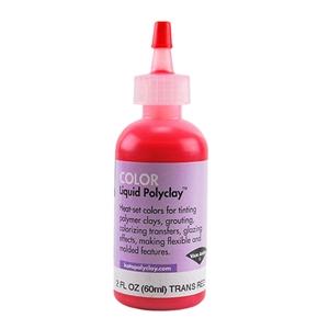 Color Liquid Polyclay - Translucent Red 2 oz
