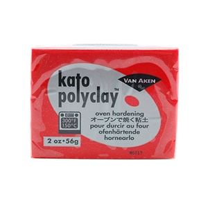 Kato Polyclay - Red 2 oz block