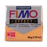 FIMO® Polymer Clay - Translucent Orange #404 2 oz block