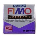 FIMO® Polymer Clay - Glitter Purple #602 2 oz block