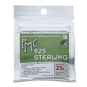 PMC STERLING - Sterling Silver Jewelry Clay - 25 gram pak