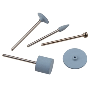 Silicone Polisher: Light Blue Barrel Set