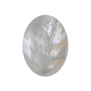 Natural Mother of Pearl - Cabochon Oval 15x20mm - Pak of 1