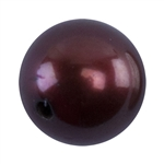 Half Drilled Round Pearl Matched Pair 6mm - Chocolate
