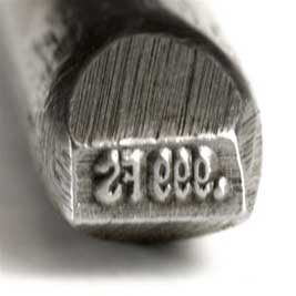 Quality Stamp - .999FS - Straight 4mm