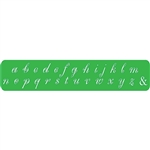 Spiral Letter Stamps - Lower Case 4mm
