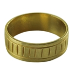 Brass Ring Cores - Slotted - Size 8.5