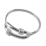 Sterling Silver Knotted Loop Ring - Size 7