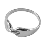 Sterling Silver Buckle Ring - Size 6