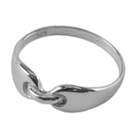 Sterling Silver Buckle Ring - Size 7