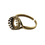 Bronze Plate Gallery Setting Adjustable Ring - Round 10mm