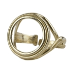 Brass  Stepped Gallery Setting Adjustable Ring - Round - 15.5mm Pkg 1