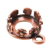 Copper Pendant Setting - Flower Round 8mm