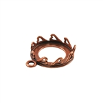 Copper Plate Pendant Setting - Hearts Round 14mm