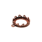Copper Plate Pendant Setting - Hearts Round 16mm