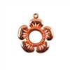 Copper Plate Flower Pendant Setting - Round 10mm