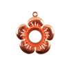 Copper Plate Flower Pendant Setting - Round 12mm