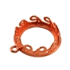 Copper Plate Pendant Setting - Waves Round 16mm