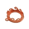 Copper Plate Pendant Setting - Waves Round 14mm