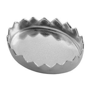 Bezel Cup Oval Serrated 8x10mm