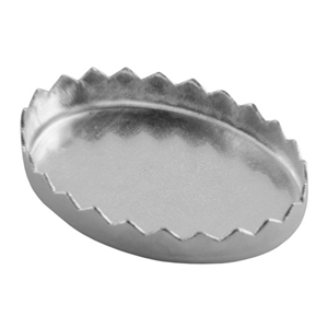 Bezel Cup Oval Serrated 10x14mm