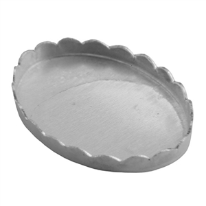 Bezel Cup Oval Scalloped 13x18mm