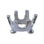 Silver Embeddable Snap-Set Prong Setting