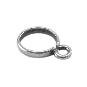 Silver Plate Drop Pinch Setting - 6mm