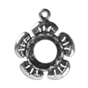 Sterling Silver Flower Pendant Setting - Round 8mm
