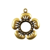 Bronze Plate Flower Pendant Setting - Round 10mm