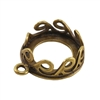Bronze Plate Pendant Setting - Waves Round 12mm