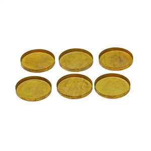 Brass Bezel Cup Round 15mm