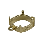 Brass Bezel Connector Setting - Twist Texture Cushion 12mm Pkg - 2