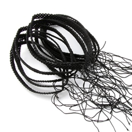 Web Knitted Necklace 8mm Black
