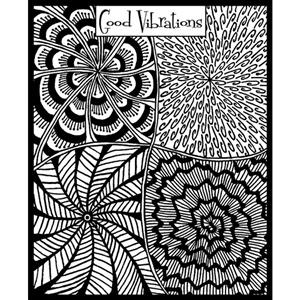 Helen Breil Texture Stamp - Good Vibrations