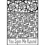 Helen Breil Texture Stamp - You Spin Me Round