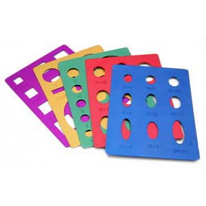 Template Set - 5pc Anodized