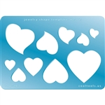 Jewelry Shape Template - Hearts