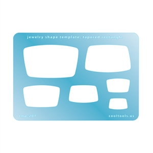 Jewelry Shape Template - Tapered Rectangle