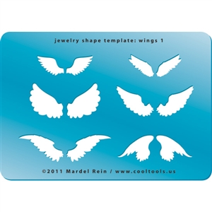Jewelry Shape Template - Wings 1