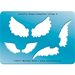 Jewelry Shape Template - Wings 3