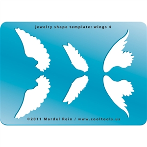 Jewelry Shape Template - Wings 4