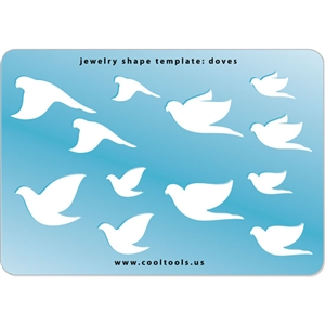 Jewelry Shape Template - Doves