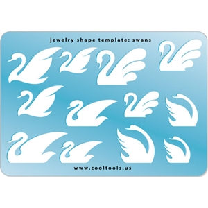 Jewelry Shape Template - Swans
