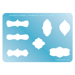 Jewelry Shape Template - Retro Frames Medium
