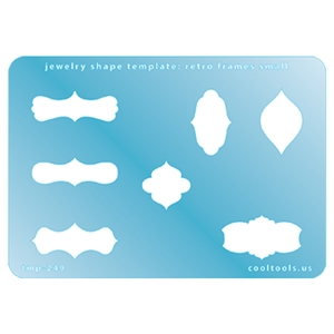 Jewelry Shape Template - Retro Frames Small